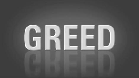 Greed text