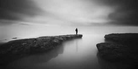 person alone