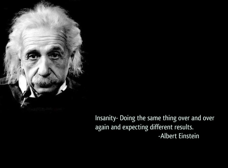 einstein's insanity quotation